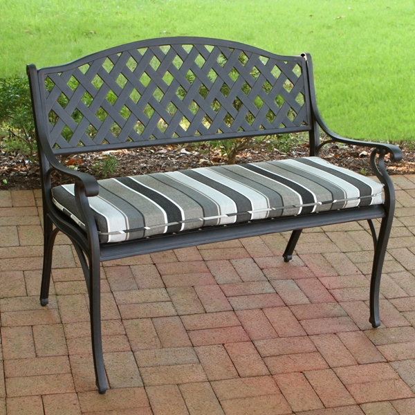 Outdoor Bench Fabric Amp Cushions Suntastic