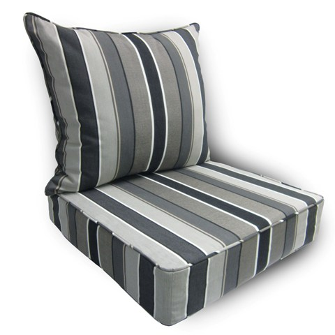 Deep Seat Pillow Back Cushioncolor Stripe Color Linen Sage Spa