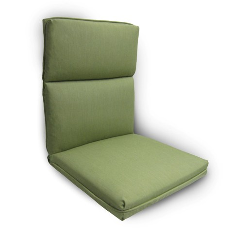 Green High Back Patio Chair Cushions Modern amp Outdoor